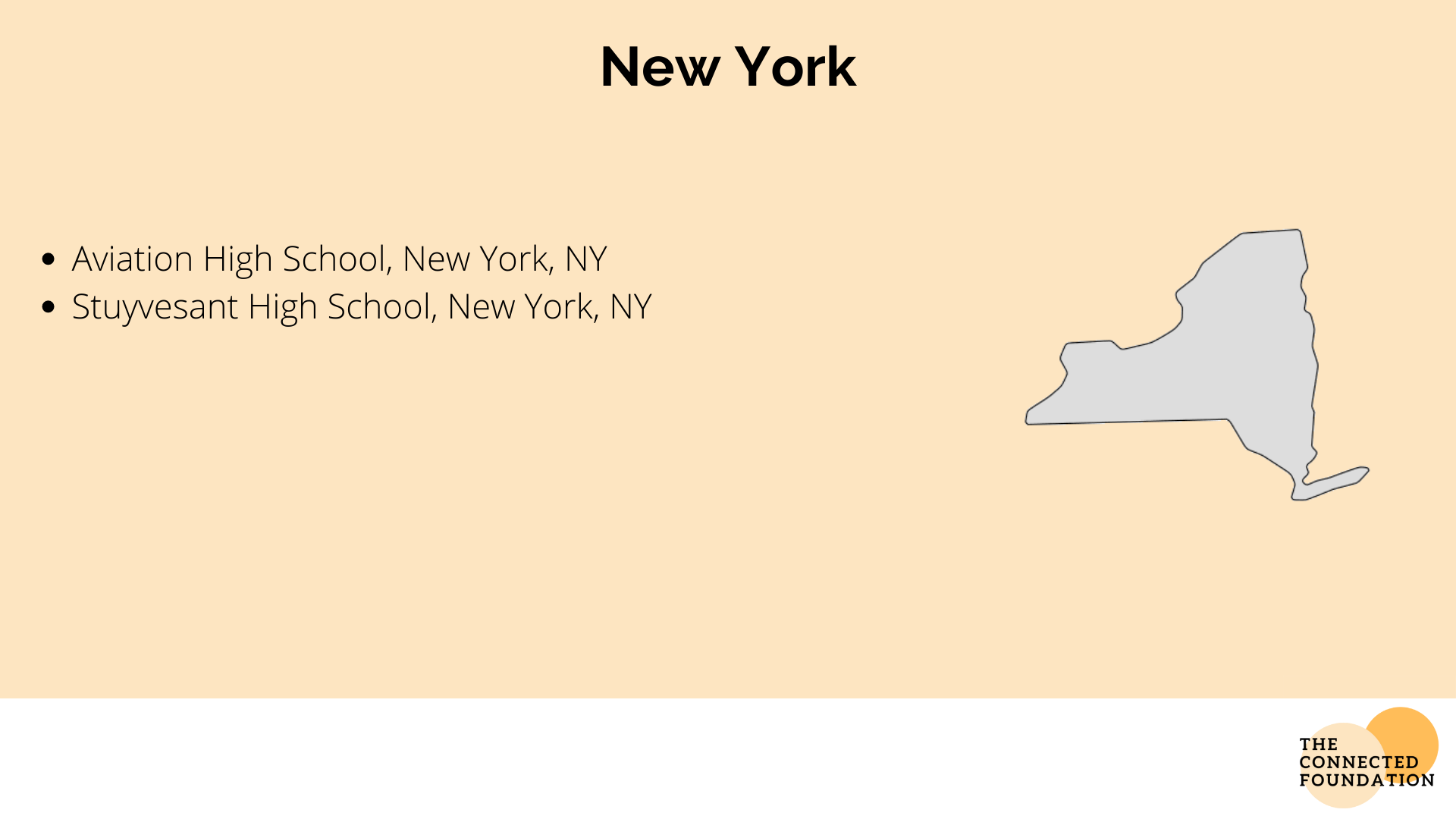Aviation, and Stuyvesant High Schools in New York